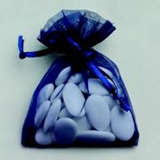 sac à dragées bleu marine