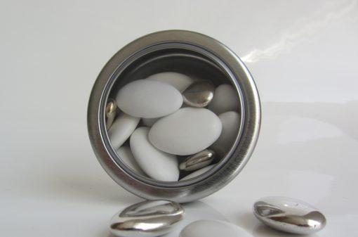 boite à dragées ronde en métal