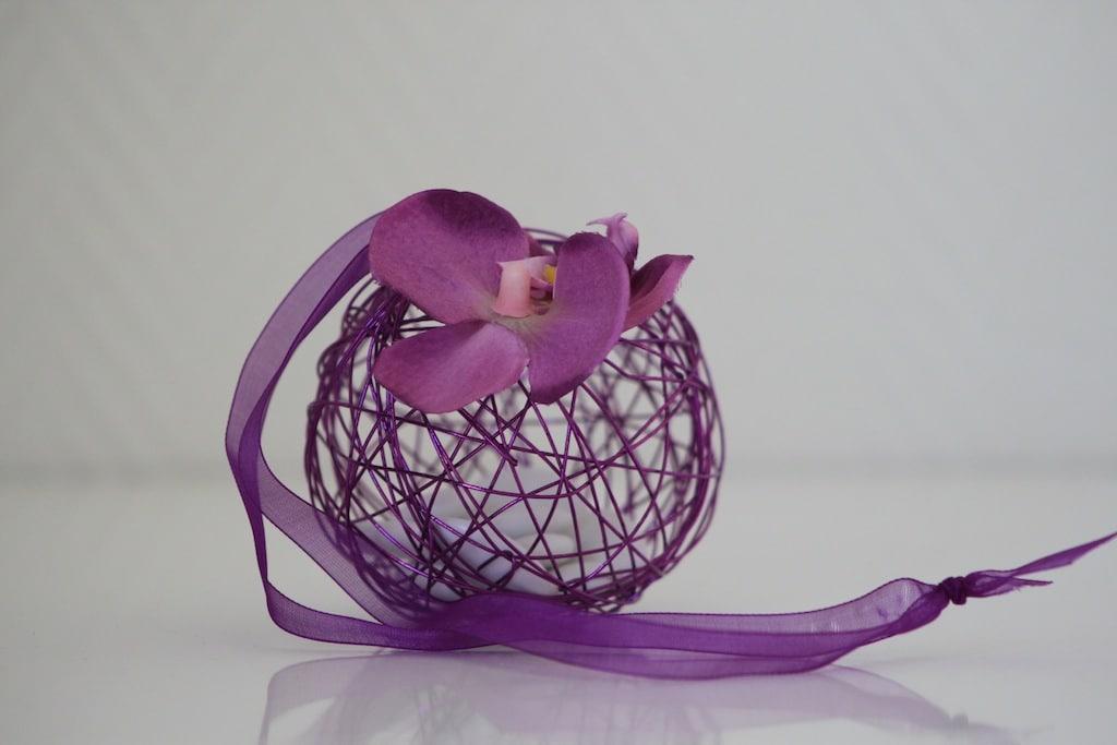 boule m tallique drag es violet la boite drag es. Black Bedroom Furniture Sets. Home Design Ideas