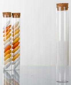 Eprouvette dragees en verre 15 cm