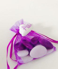 sac a dragees violet organza
