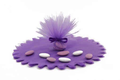 tulles cristal violet- lot de 10