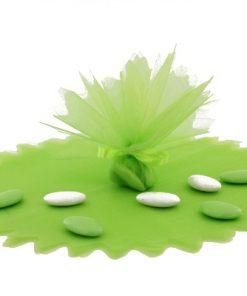 tulle cristal vert anis