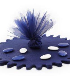 tulle cristal bleu marine- lot de 10