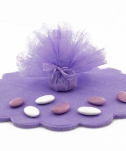 tulle intissé violet