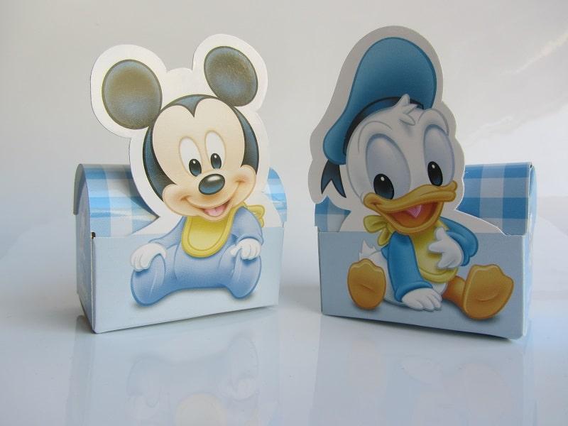 Lot de 2 boites drag es mickey et donald la boite drag es - Decoration bapteme theme mickey ...