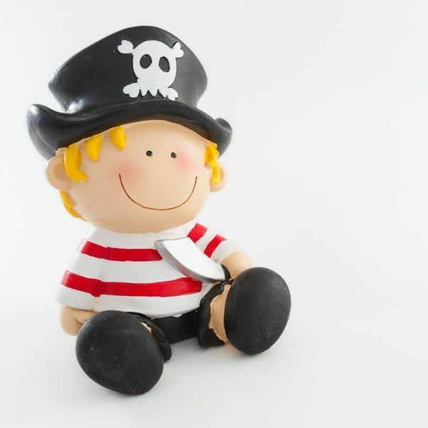 Tirelire pirate - Decoration bapteme pirate ...