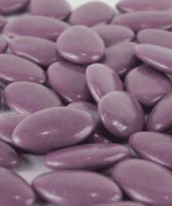 dragées chocolat violet