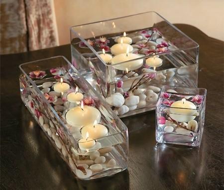 centre de table bougies flottantes - Centre De Table Bougie