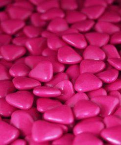 Dragees coeur Fuchsia