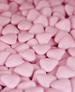 dragees coeur rose
