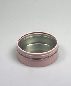 boite à dragées métal ronde rose