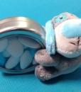 Dragées peluche clip turquoise (3)