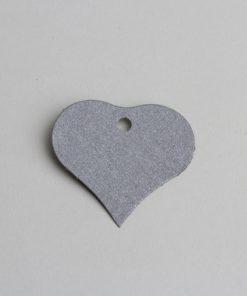 etiquette coeur gris nacré