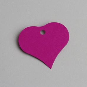 etiquette coeur fuchsia