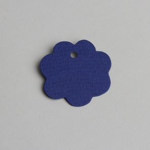 etiquette fleur bleu roi