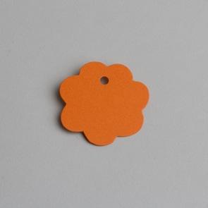 etiquette fleur orange