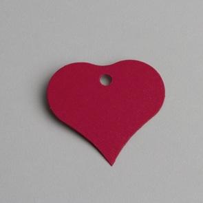 etiquette coeur rouge