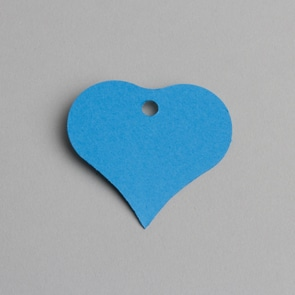 etiquette coeur turquoise