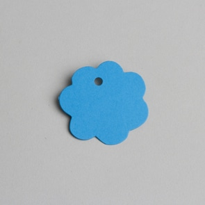 etiquette fleur turquoise