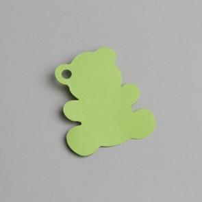 Etiquette ourson vert