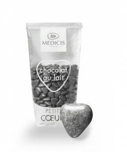 Dragées Médicis petits cœurs gris granite