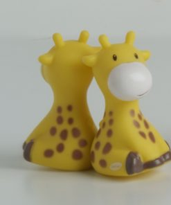 Girafe aimanté jaune deco bapteme jungle
