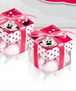 Boite à dragées minnie cube