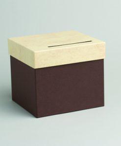 urne mariage chocolat ivoire
