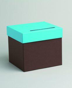 urne mariage chocolat turquoise