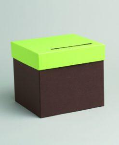 urne mariage chocolat vert anis