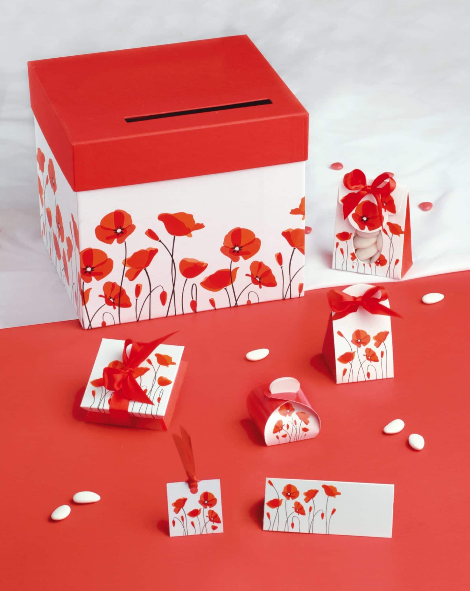 Lot de 10 marques place carte de table th/ème coquelicots bapt/ême communion anniversaire