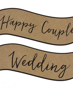 Pancarte kraft mariage