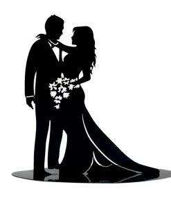 couple marié déco noir