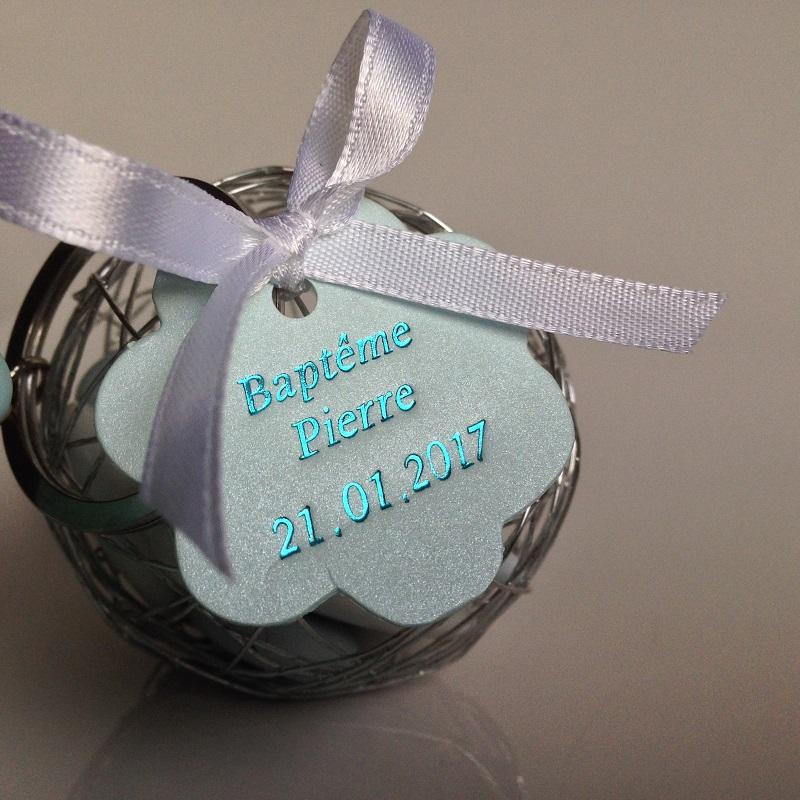 Porte cl s ourson bleu ciel avec boule metallique la for Decoration 1 an garcon
