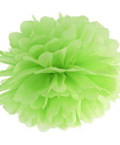 pompon papier de soie vert anis