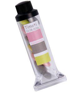 tube peinture dragées