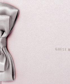 Livre d'or rose poudré mariage