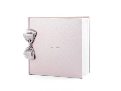 Livre d'or rose mariage