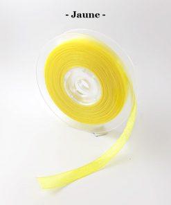 Ruban organza jaune