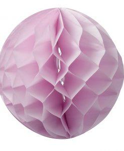 Boule alvéolée rose 30 cm