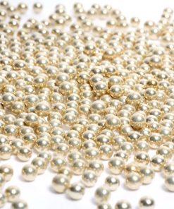 perles dragées bille doré