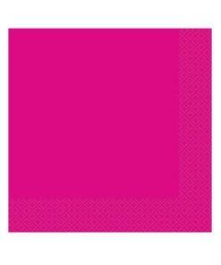 serviette en papier rose fuchsia