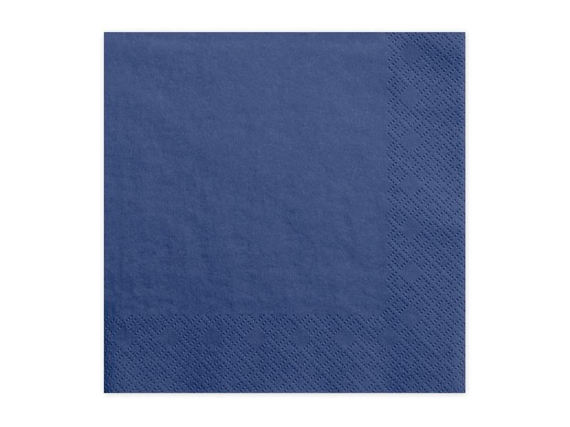 Serviette en papier triple paisseur plus de 15 couleurs - Serviette de table bleu roi ...