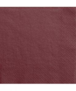 serviette en papier bordeaux