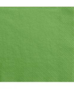 serviette vert foncé