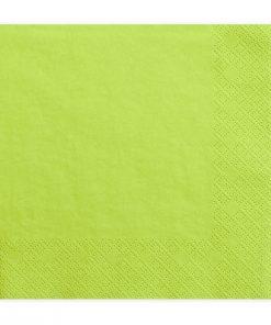 serviette en papier vert anis
