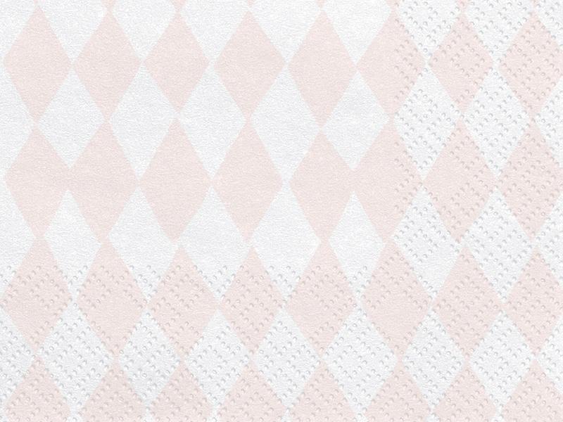 serviette losange rose et blanc