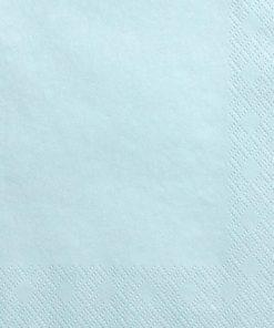 serviette papier bleu ciel