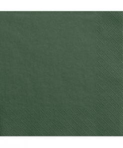 serviette en papier vert foncé